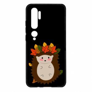 Xiaomi Mi Note 10 Case Hedgehog in the leaves