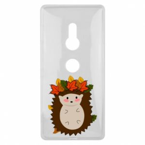 Sony Xperia XZ2 Case Hedgehog in the leaves