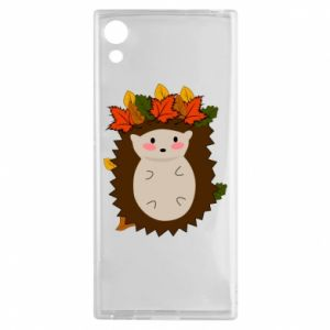 Sony Xperia XA1 Case Hedgehog in the leaves