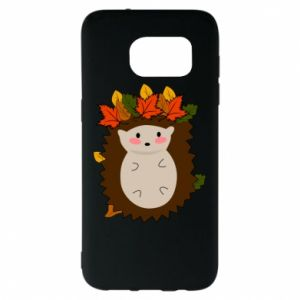 Samsung S7 EDGE Case Hedgehog in the leaves