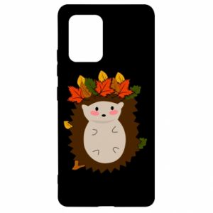Samsung S10 Lite Case Hedgehog in the leaves