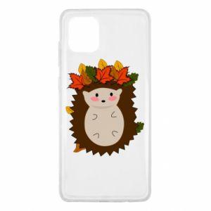 Samsung Note 10 Lite Case Hedgehog in the leaves