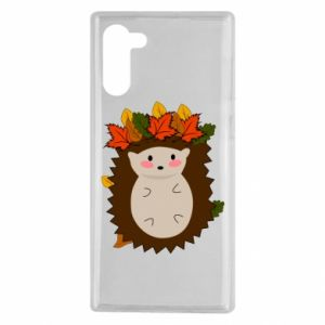 Samsung Note 10 Case Hedgehog in the leaves