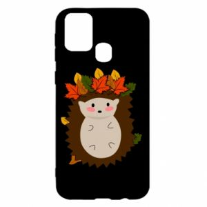 Samsung M31 Case Hedgehog in the leaves