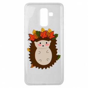 Samsung J8 2018 Case Hedgehog in the leaves