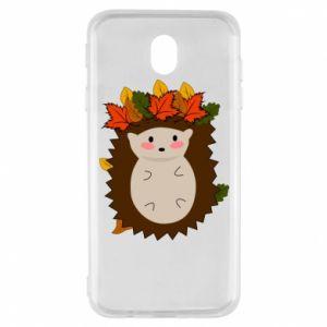Samsung J7 2017 Case Hedgehog in the leaves