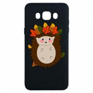Samsung J7 2016 Case Hedgehog in the leaves