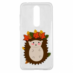 Nokia 5.1 Plus Case Hedgehog in the leaves