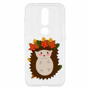 Nokia 4.2 Case Hedgehog in the leaves