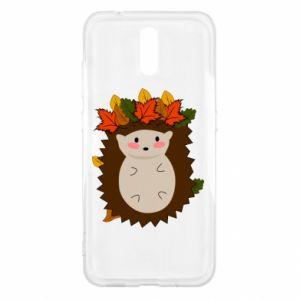 Nokia 2.3 Case Hedgehog in the leaves