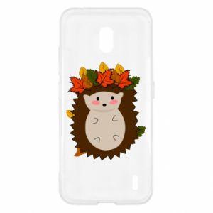 Nokia 2.2 Case Hedgehog in the leaves