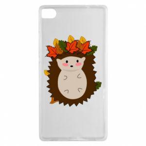 Huawei P8 Case Hedgehog in the leaves