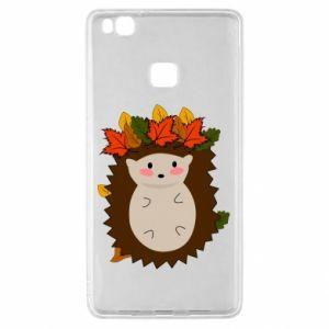 Huawei P9 Lite Case Hedgehog in the leaves