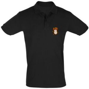 Men's Polo shirt Hedgehog in the leaves