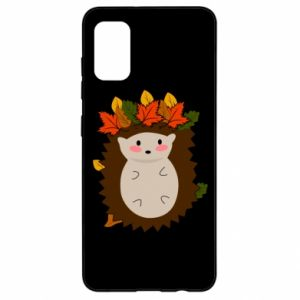 Samsung A41 Case Hedgehog in the leaves