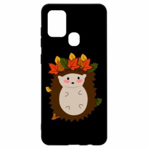 Samsung A21s Case Hedgehog in the leaves