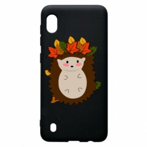 Samsung A10 Case Hedgehog in the leaves