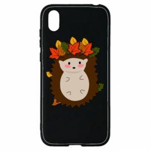 Huawei Y5 2019 Case Hedgehog in the leaves