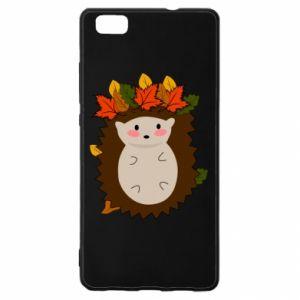 Huawei P8 Lite Case Hedgehog in the leaves