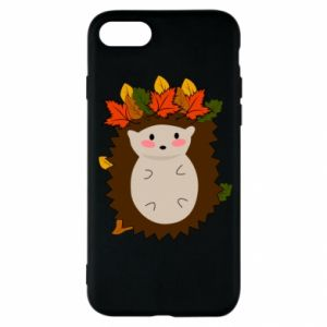 iPhone SE 2020 Case Hedgehog in the leaves