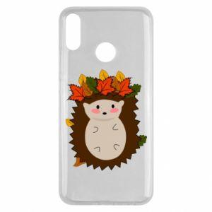 Huawei Y9 2019 Case Hedgehog in the leaves