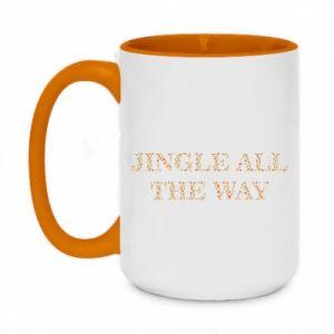 Two-toned mug 450ml Jingle all the way