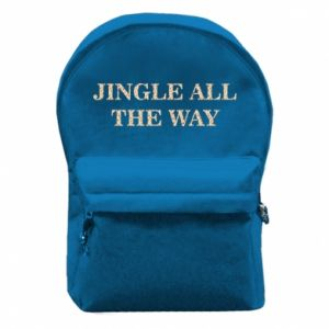 Backpack with front pocket Jingle all the way