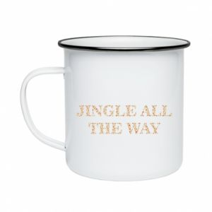Enameled mug Jingle all the way