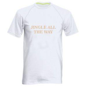 Men's sports t-shirt Jingle all the way