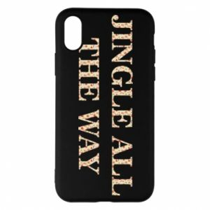 Phone case for iPhone X/Xs Jingle all the way