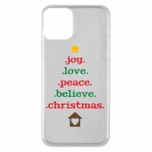 iPhone 11 Case Joy. Love. Peace. Believe. Christmas.