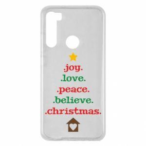 Etui na Xiaomi Redmi Note 8 Joy. Love. Peace. Believe. Christmas.