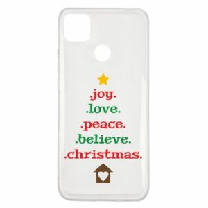 Etui na Xiaomi Redmi 9c Joy. Love. Peace. Believe. Christmas.