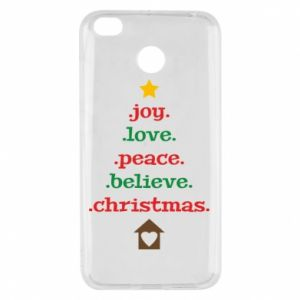Etui na Xiaomi Redmi 4X Joy. Love. Peace. Believe. Christmas.