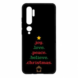Etui na Xiaomi Mi Note 10 Joy. Love. Peace. Believe. Christmas.