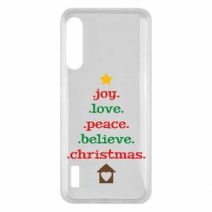Etui na Xiaomi Mi A3 Joy. Love. Peace. Believe. Christmas.