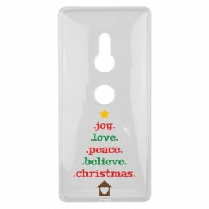 Etui na Sony Xperia XZ2 Joy. Love. Peace. Believe. Christmas.