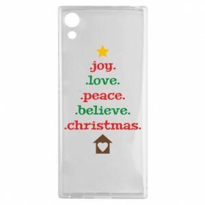 Etui na Sony Xperia XA1 Joy. Love. Peace. Believe. Christmas.