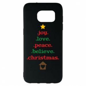 Etui na Samsung S7 EDGE Joy. Love. Peace. Believe. Christmas.