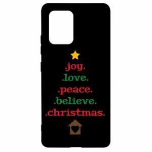 Etui na Samsung S10 Lite Joy. Love. Peace. Believe. Christmas.