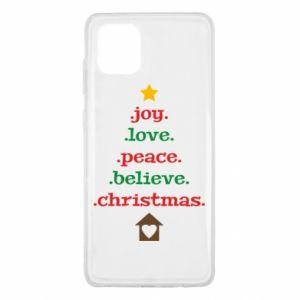 Etui na Samsung Note 10 Lite Joy. Love. Peace. Believe. Christmas.