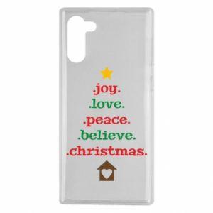 Etui na Samsung Note 10 Joy. Love. Peace. Believe. Christmas.