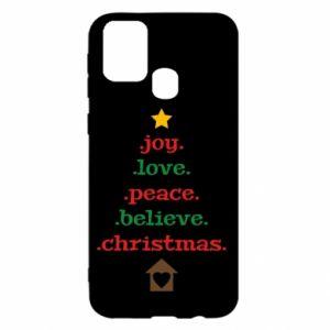 Etui na Samsung M31 Joy. Love. Peace. Believe. Christmas.