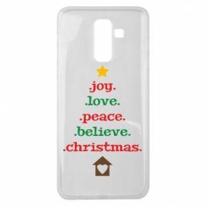 Etui na Samsung J8 2018 Joy. Love. Peace. Believe. Christmas.