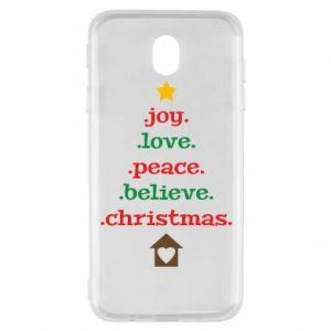 Etui na Samsung J7 2017 Joy. Love. Peace. Believe. Christmas.