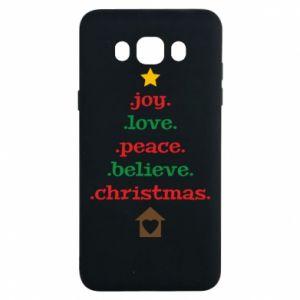 Etui na Samsung J7 2016 Joy. Love. Peace. Believe. Christmas.