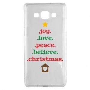 Etui na Samsung A5 2015 Joy. Love. Peace. Believe. Christmas.
