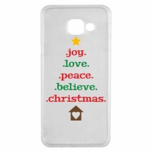 Etui na Samsung A3 2016 Joy. Love. Peace. Believe. Christmas.
