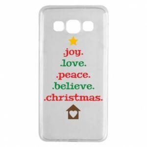 Etui na Samsung A3 2015 Joy. Love. Peace. Believe. Christmas.