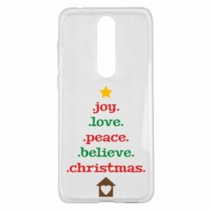Etui na Nokia 5.1 Plus Joy. Love. Peace. Believe. Christmas.